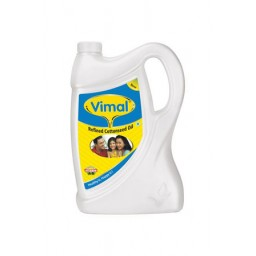 Vimal Refined Cottonseed Oil 5 L Jar