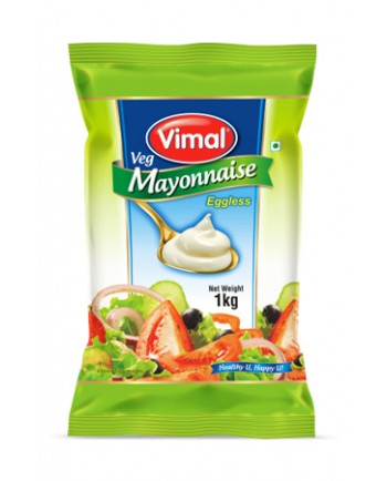 Vimal Veg Mayonnaise 1 Kg Pouch Box